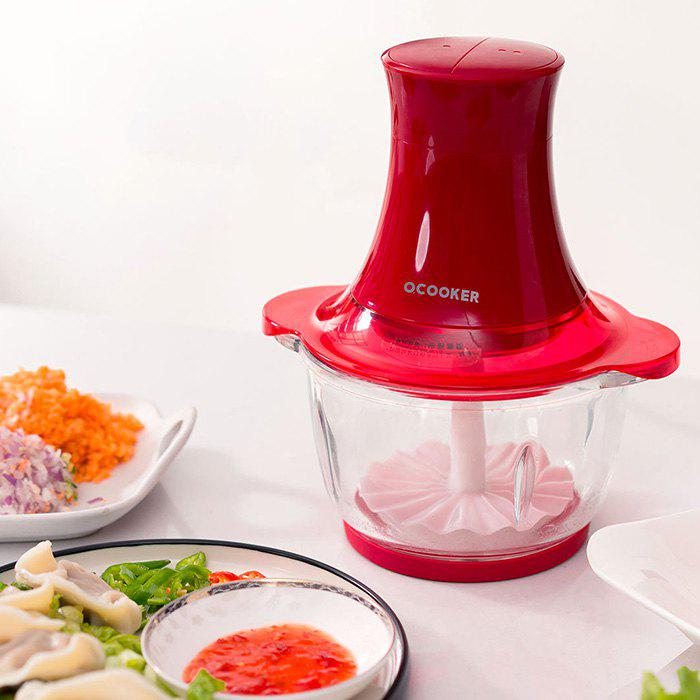 Multifunction 1.2L Efficient Double Gears Meat Grinder from Xiaomi Youpin - RED
