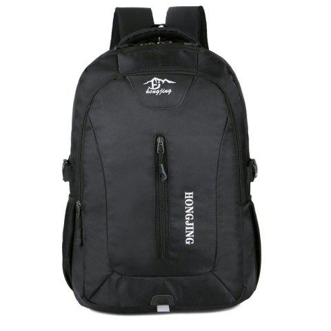 Waterproof Durable Nylon Men Backpack - BLACK
