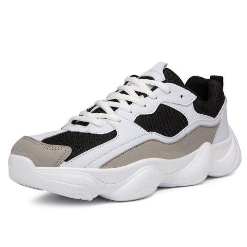 Fashionable Breathable Sports Shoes for Men - BLACK 39