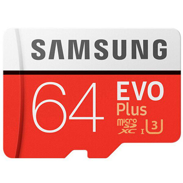 Original Samsung UHS-3 64GB Micro SDXC Memory Card Class 10 100MB/s Storage Device - CHESTNUT RED 64GB