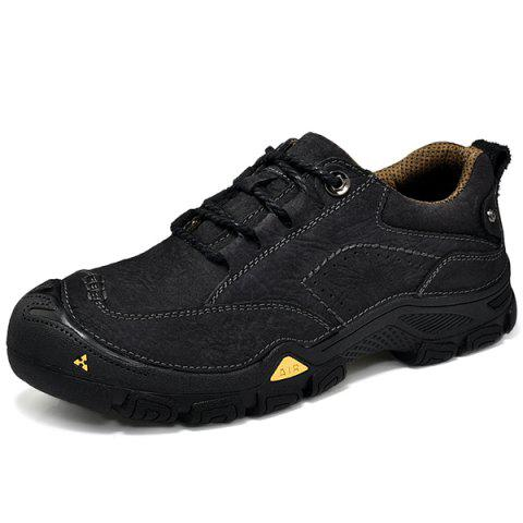 Fashion Casual Outdoor Sports Shoes - BLACK 39