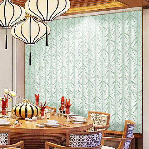 Creative Bamboo Leaves Pattern Wall Stickers for Room Decoration - FROG GREEN