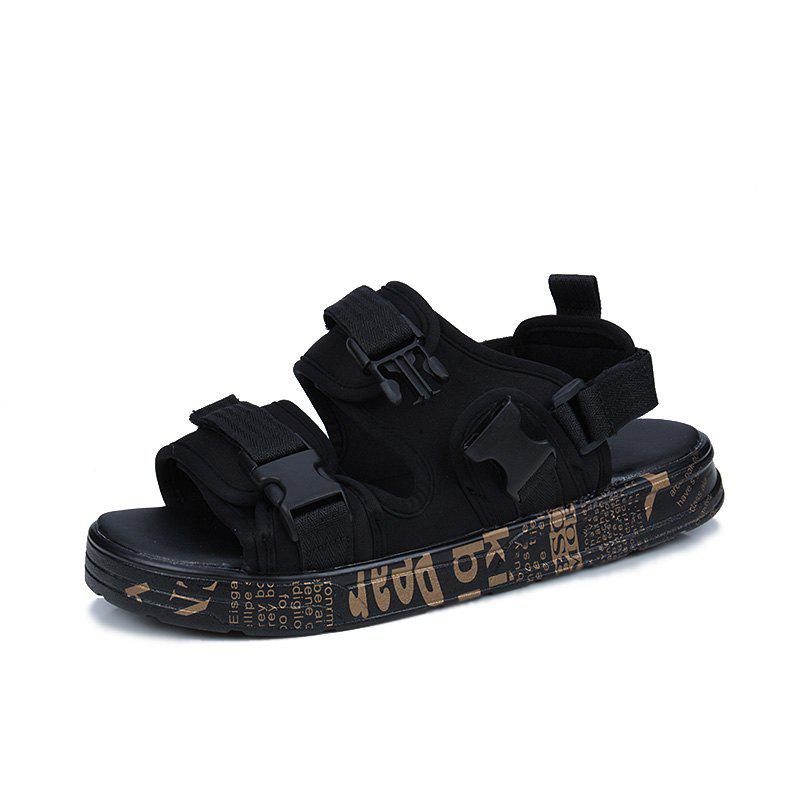 Fashionable Hollowed-out Lace-up Sandals for Men - GOLD 37