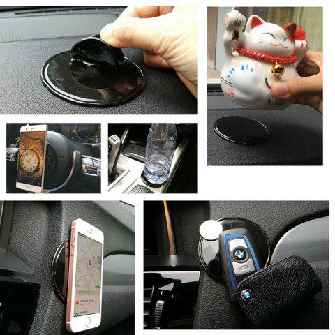 Reusable Sticky Gel Cell Pad Anti Slip Phone Holder for Kitchen Bathroom House Car - BLACK SQUARE
