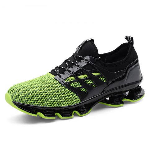 Breathable Lace-up Sports Shoes for Men - MEDIUM FOREST GREEN 48
