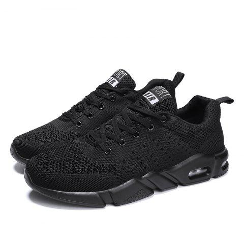 Breathable Comfort Running Sneakers - BLACK 42