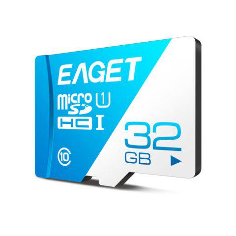 EAGET T1 Class 10 High Speed Micro SDHC UHS-I Flash TF Memory Card - ROYAL BLUE 32G