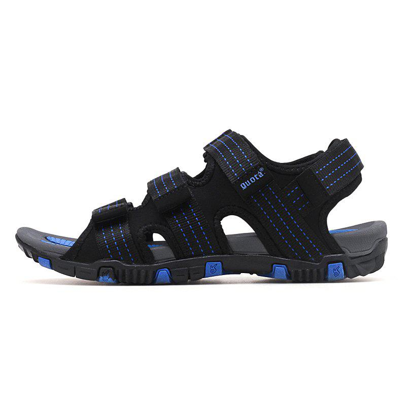 Fashionable Light Solid Sandals for Men - BLUEBERRY BLUE 44