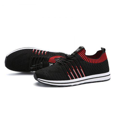 Fashion Breathable Men Casual Mesh Sneakers - CHESTNUT RED 41