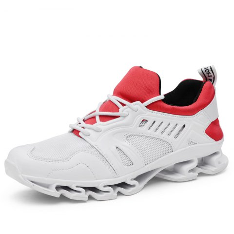 Breathable Running Men Casual Mesh Sneakers - WHITE 39