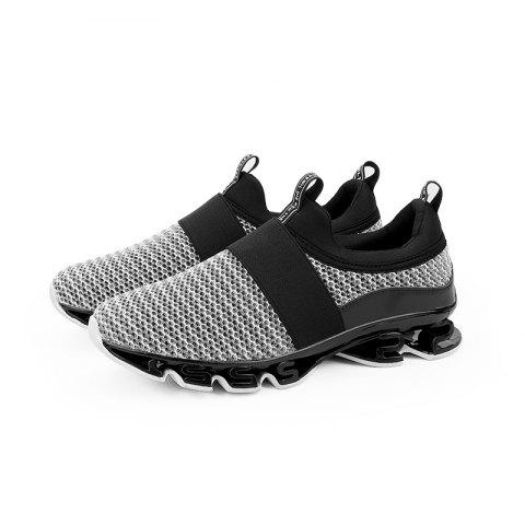 Leisure Breathable Sports Mesh Men Sneakers - GRAY GOOSE 43