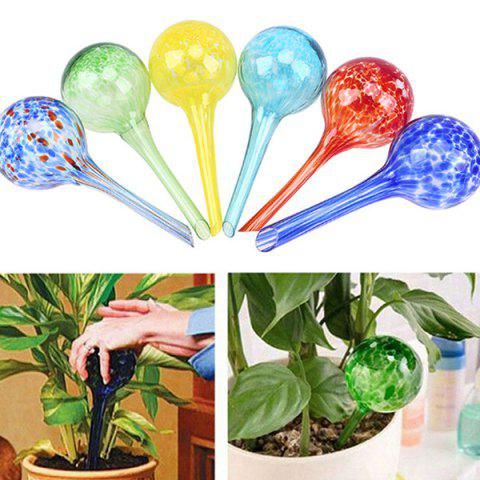 Mini Glass Automatic Self Watering Globe Bulb Plant Waterer - RED