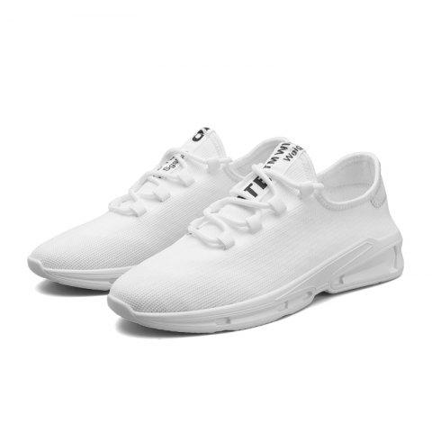 Fashion Breathable Men Casual Cloth Athletic Sneakers - WHITE 44
