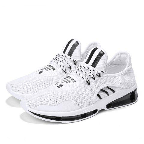 Men Comfort Fashion Breathable Sneakers - WHITE 42