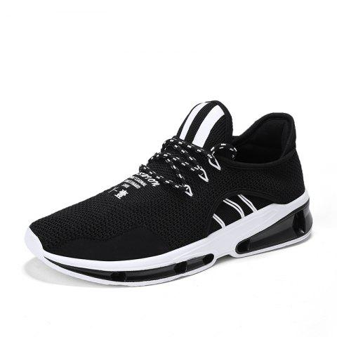 Men Comfort Fashion Breathable Sneakers - BLACK 43