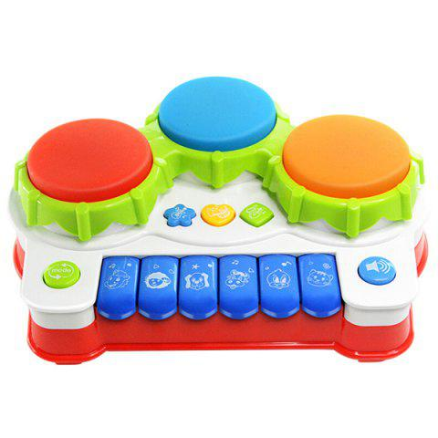 D301 Music Pat Drum with Light Educational Toy for Children - multicolor