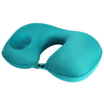 Multifunctional Casual Office Inflatable Pillow U-shaped Sleeping Tool - MACAW BLUE GREEN