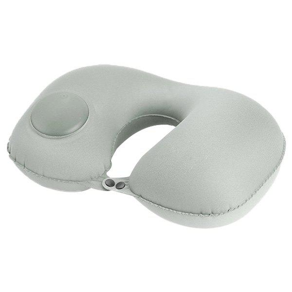 Multifunctional Casual Office Inflatable Pillow U-shaped Sleeping Tool - LIGHT GRAY
