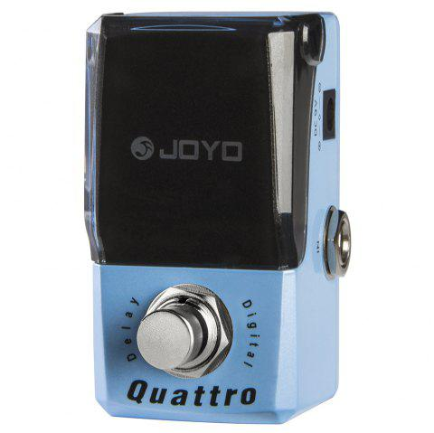 Joyo JF - 318 Quattro Digital Delay Guitar Effect Pedal True Bypass with Free Connector and Footswitch Topper - BLUE KOI