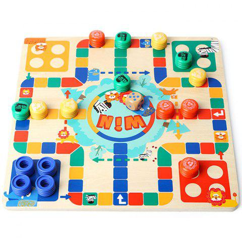 Topbright 130710 Two-sided Flying Chess Puzzle Toy Board Game for Kids - multicolor