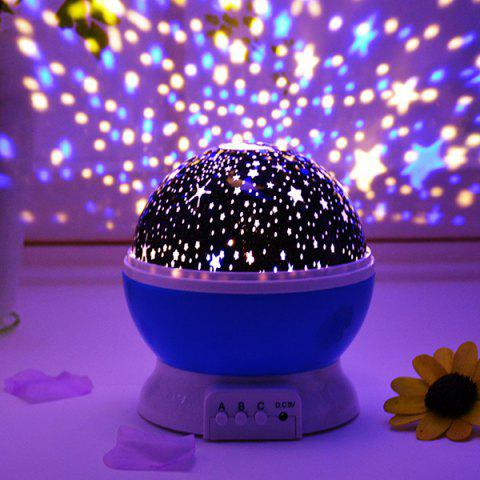 LED Auto Rotating Starry Projection Lamp Night Light - BUTTERFLY BLUE
