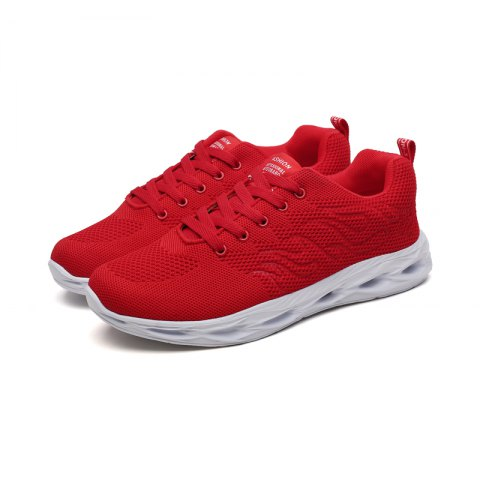 5b2daaafa8a 2019 Men Chic Breathable Mesh Sports Sneakers In FERRARI RED 45 ...