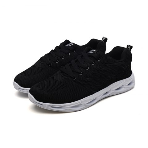 1572ea00fb2 2019 Men Chic Breathable Mesh Sports Sneakers In BLACK 44 ...
