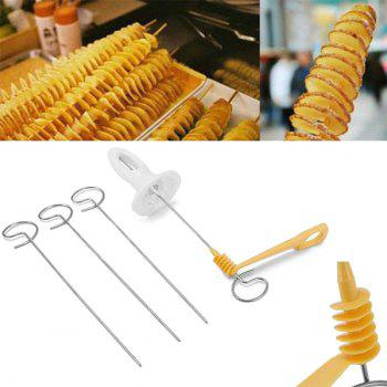 Hand-operated Potatoes Spiral Blade Cutting Tool - WHITE