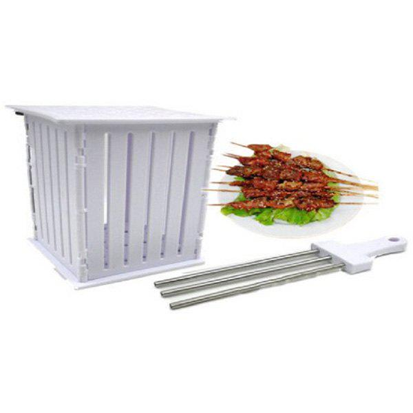 Barbecue Skewers Tool with 36 Holes - WHITE