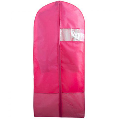Breathable Dust-proof Garment Bag Environmental Zipper Clothing Storage Cover - ROSE RED