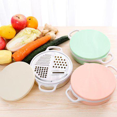 4-in-1 Vegetable Slicer Hand-held Grater with Bowl - BEIGE