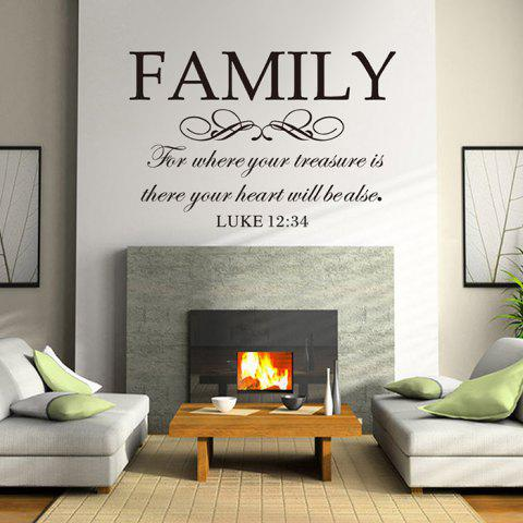English Word Style Wall Sticker Decoration for Living Room Bedroom - BLACK