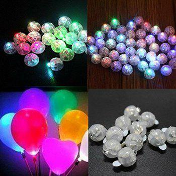 LED Copper Wire Balloon Light for Holiday Wedding Room Bedroom Decoration 10PCS - TRANSPARENT