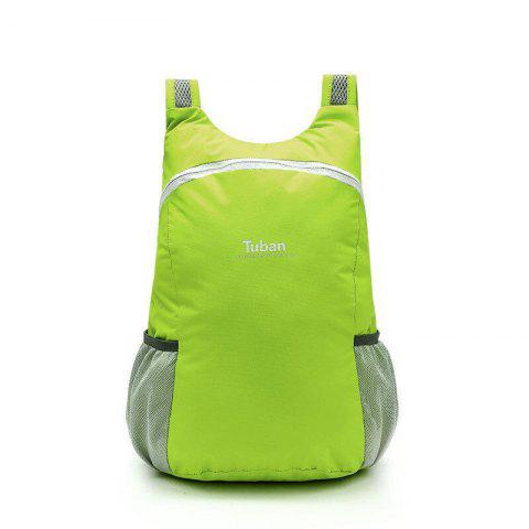 Tuban Fashion Casual Ultralight Foldable Backpack 1pc - ALIEN GREEN