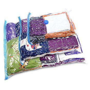 Storage Bags Works with Free Hand-pump for Travel 4pcs - TRANSPARENT SIZE L