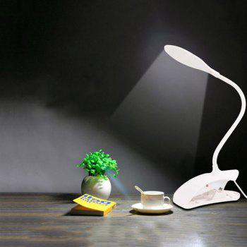 LED Eyeshield Table Lamp with Clamp Base - WHITE
