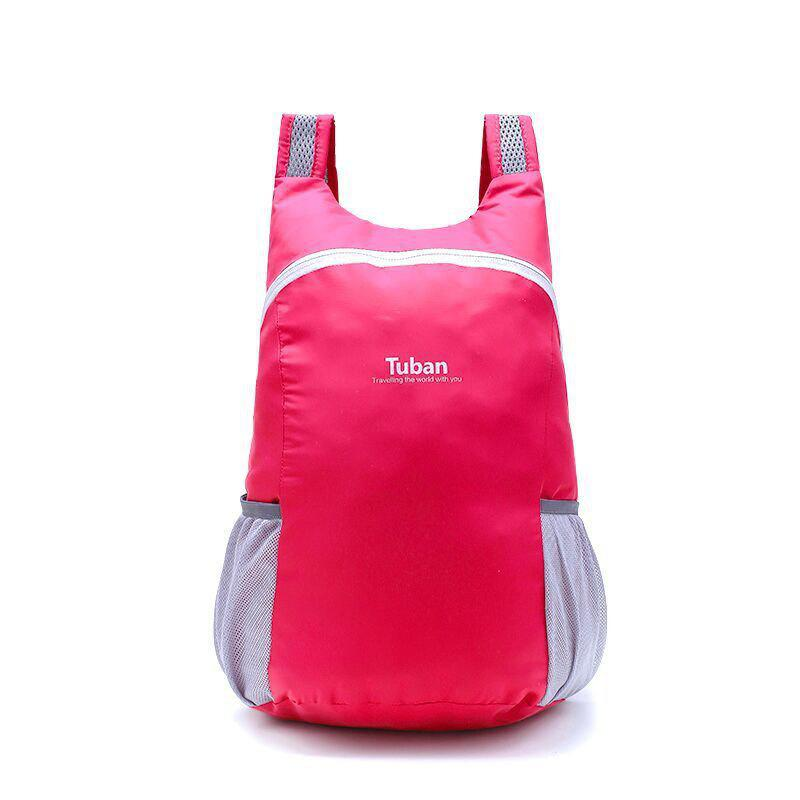 Tuban Fashion Casual Ultralight Foldable Backpack 1pc - ROSE RED