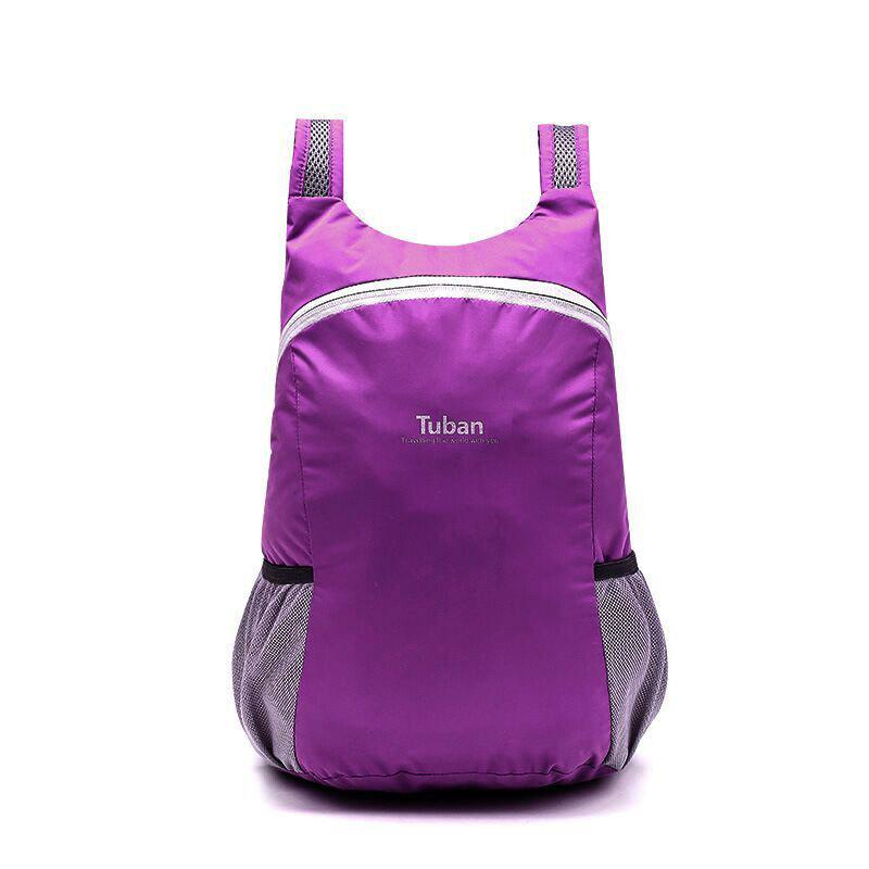 Tuban Fashion Casual Ultralight Foldable Backpack 1pc - DARK ORCHID