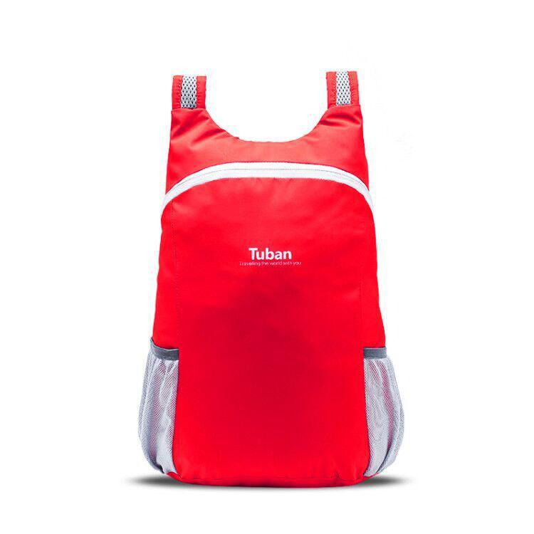 Tuban Fashion Casual Ultralight Foldable Backpack 1pc - LAVA RED