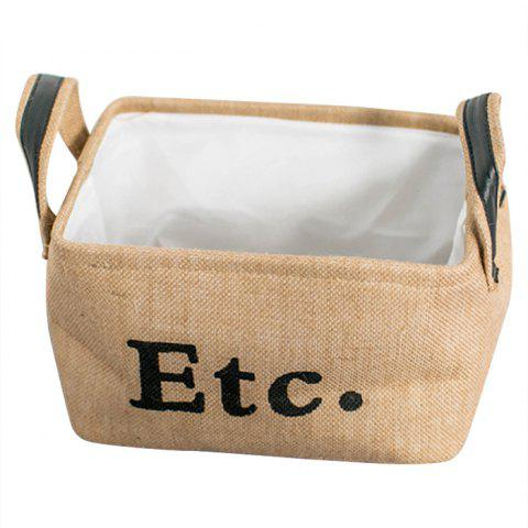 Environmental friendly Domestic Jute Rectangle Storage Box - GOLDENROD SIZE 30 X 23 X 18CM