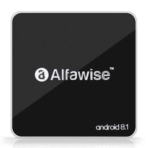 Alfawise A8 TV BOX Rockchip 3229 Android 8.1 2GB RAM + 16GB ROM 2.4G WiFi 100Mbps Support 4K H.265 - BLACK EU PLUG