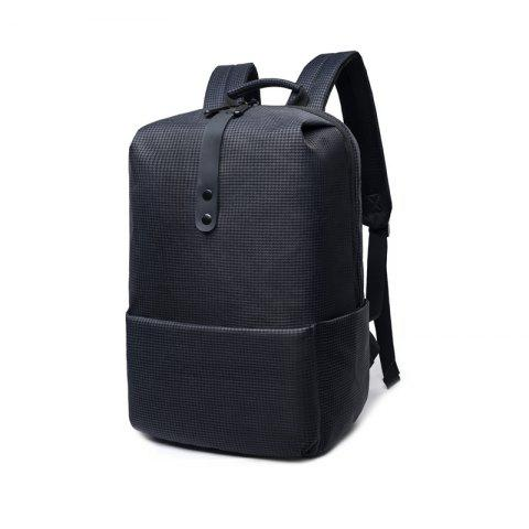 Modern Stylish Backpack with Decorative Strip for Men - BLACK