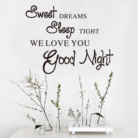 Sweet Dreams English Word Pattern Wall Sticker for Living Room Bedroom - BLACK