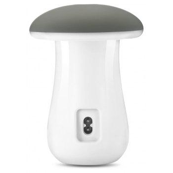 Utorch 5 Port USB Charging Holder with Stand and Mushroom LED Lamp - WHITE
