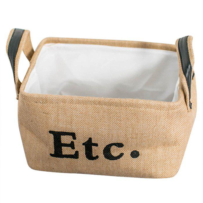 Environmental friendly Domestic Jute Rectangle Storage Box, Goldenrod