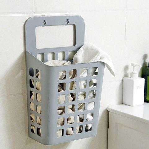 Sucked Hanging Contacted Laundry Hamper Dirty Clothes Storage Basket - LIGHT GRAY