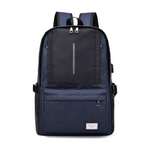 Stylish Outdoor Backpack with USB Charging Port - SLATE BLUE