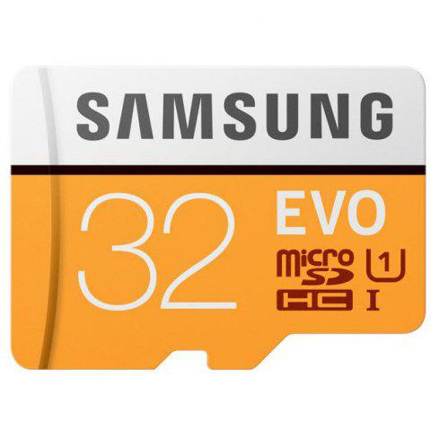 Samsung EVO UHS-1 Micro SDHC Memory Card - ORANGE / WHITE 32GB