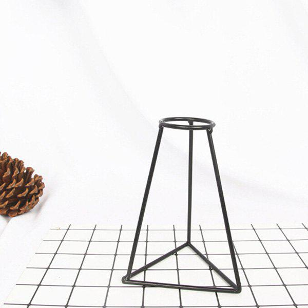 Creative Simple Iron Mini Flower Frame Vase Decoration - BLACK 11 X 9.5 X 15.5CM