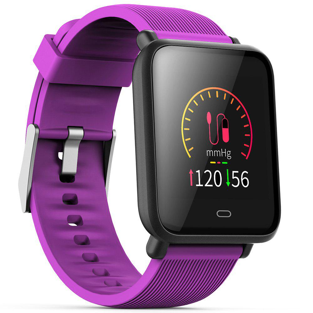 Q9 Colorful Screen Waterproof Sports Smart Watch for Android / iOS with Heart Rate Monitor Blood Pressure Functions - PURPLE